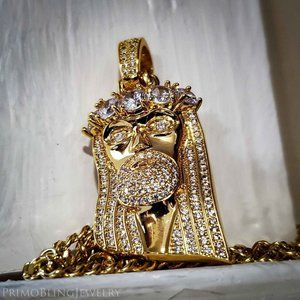 """24"""" Gold Plated Jesus Necklace"""